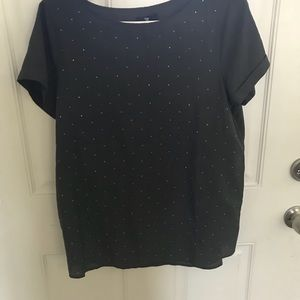 Blue GAP shirt with silver dots